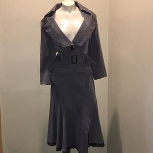 Bisou Bisou beautiful 2 piece dress suit EUC 12/14